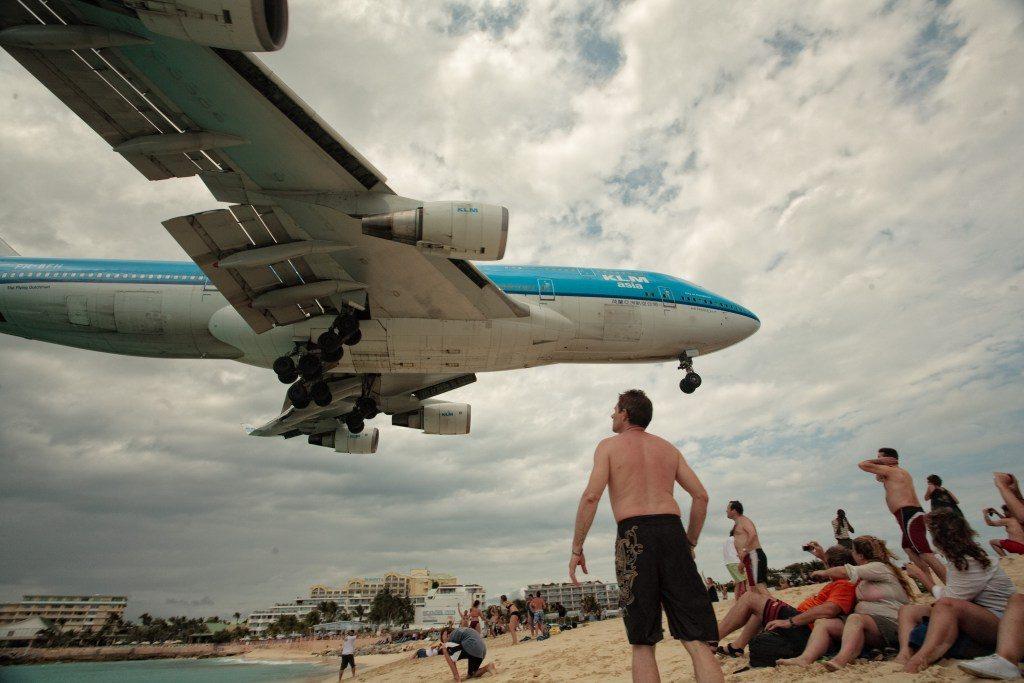 klm-st-maarten-landing-747