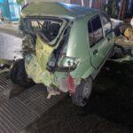 police accid green car